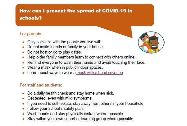 Help Prevent the Spread of Covid 19 in Schools